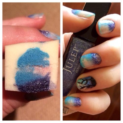 Shatter Me inspired nail art