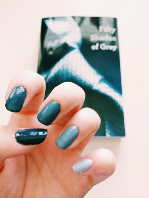 50 Shades of Grey Manicure