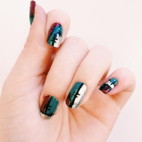 Frankenstein Inspired Manicure