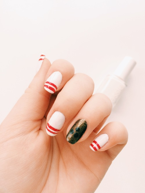 Pinny the Bowling Pin Inspired Manicure