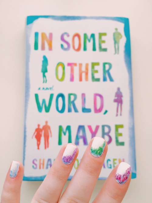 In Some Other World Maybe Cover Inspired Manicure // Novels and Nail Polish