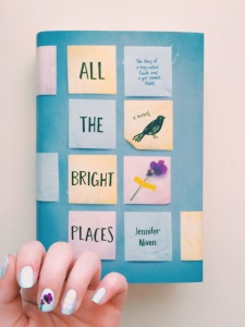 All The Bright Places Cover Inspired Manicure // Novels and Nail Polish