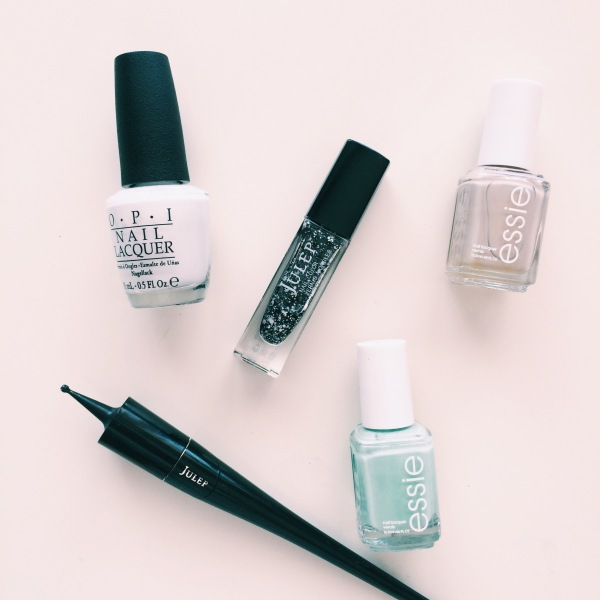 Tools I Used // Plie Wand + Julep Max + Essie Sand Tropez + Fashion Playground + OPI Alpine Snow