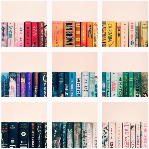 Book Rainbow // Novels and Nail Polish