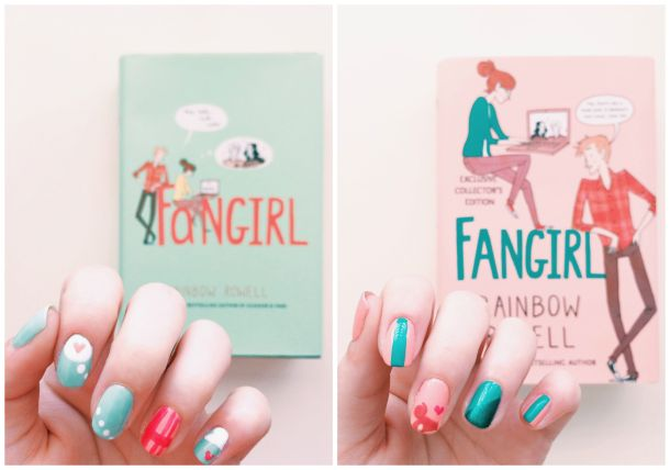 Fangirl Cover Inspired Manicure // Novels and Nail Polish