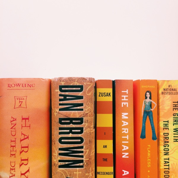 Orange Ombre Books // Novels and Nail Polish