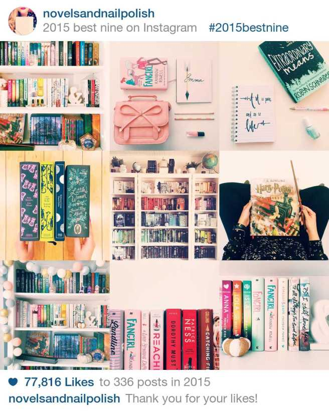 Novels and Nail Polish 2015 Best Nine on Instagram