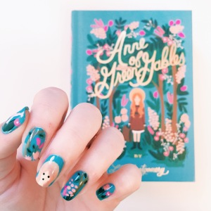 Puffin in Bloom Cover Inspired Manicure // Novels and Nail Polish
