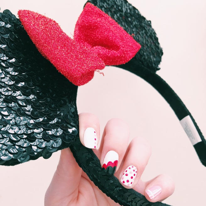Minnie Mouse Inspired Manicure // Novels and Nail Polish