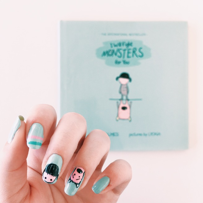 I Will Fight Monsters for You // Read Across America Day Children's Book Manicures // Novels and Nail Polish