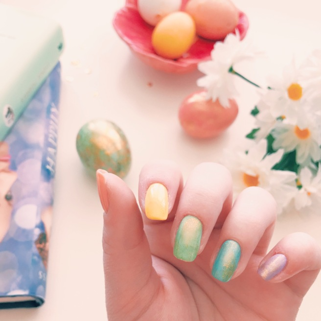 Easter Egg Nails // Novels and Nail Polish