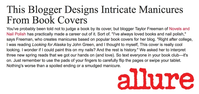 Novels and Nail Polish for Allure